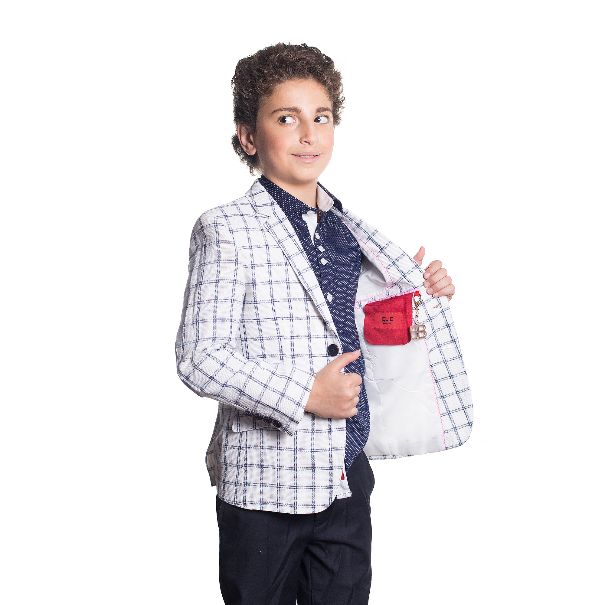 Plaid Boys Blazers / Sports Coat Jacket EBBS1668