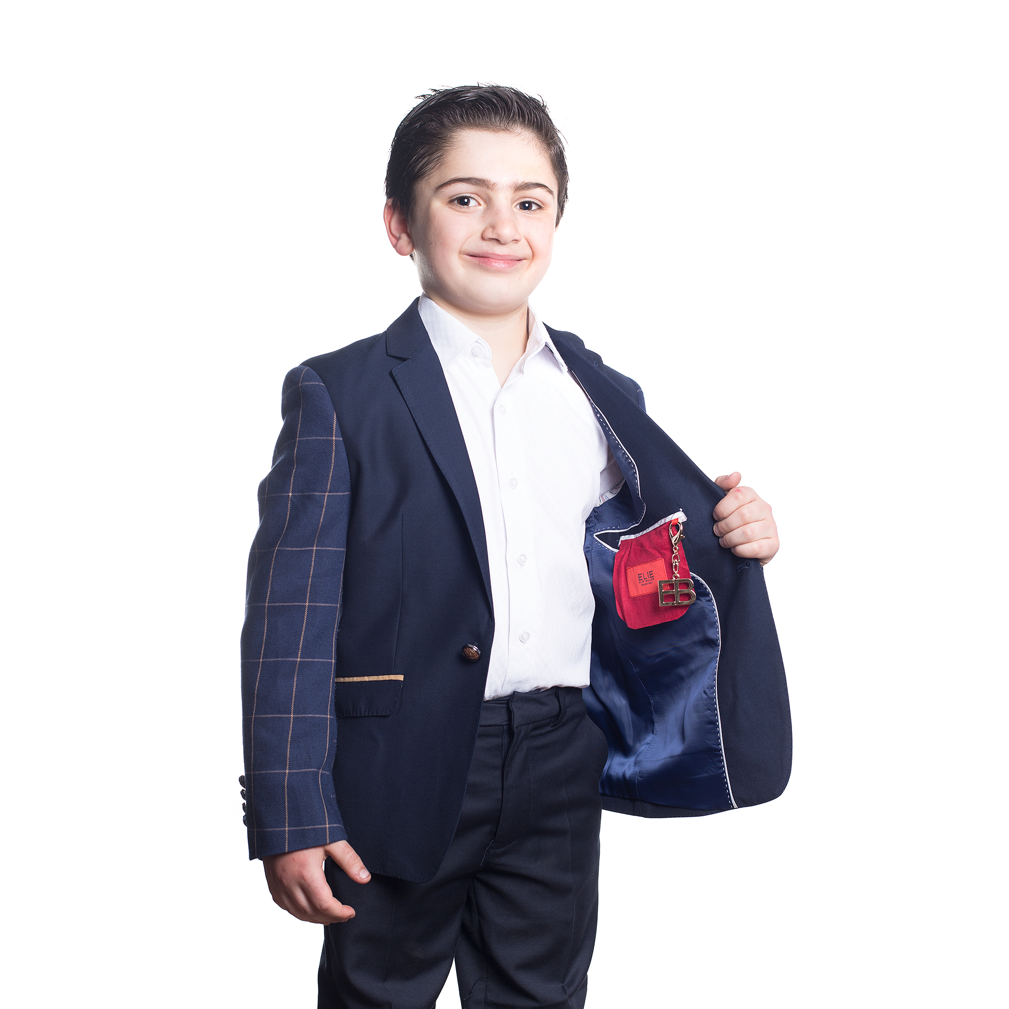 Solid with Plaid Sleeves Boys Blazers / Sports Coat Jacket EBBW1546