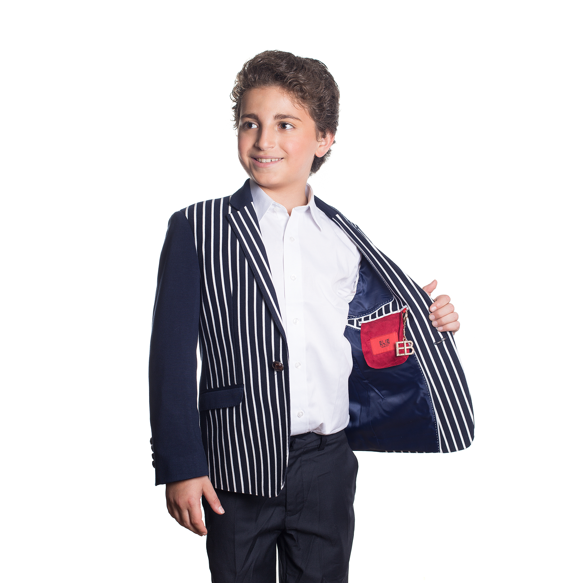 Knit Solid and Strips Boys Blazers / Sports Coat Jacket EBBW1551