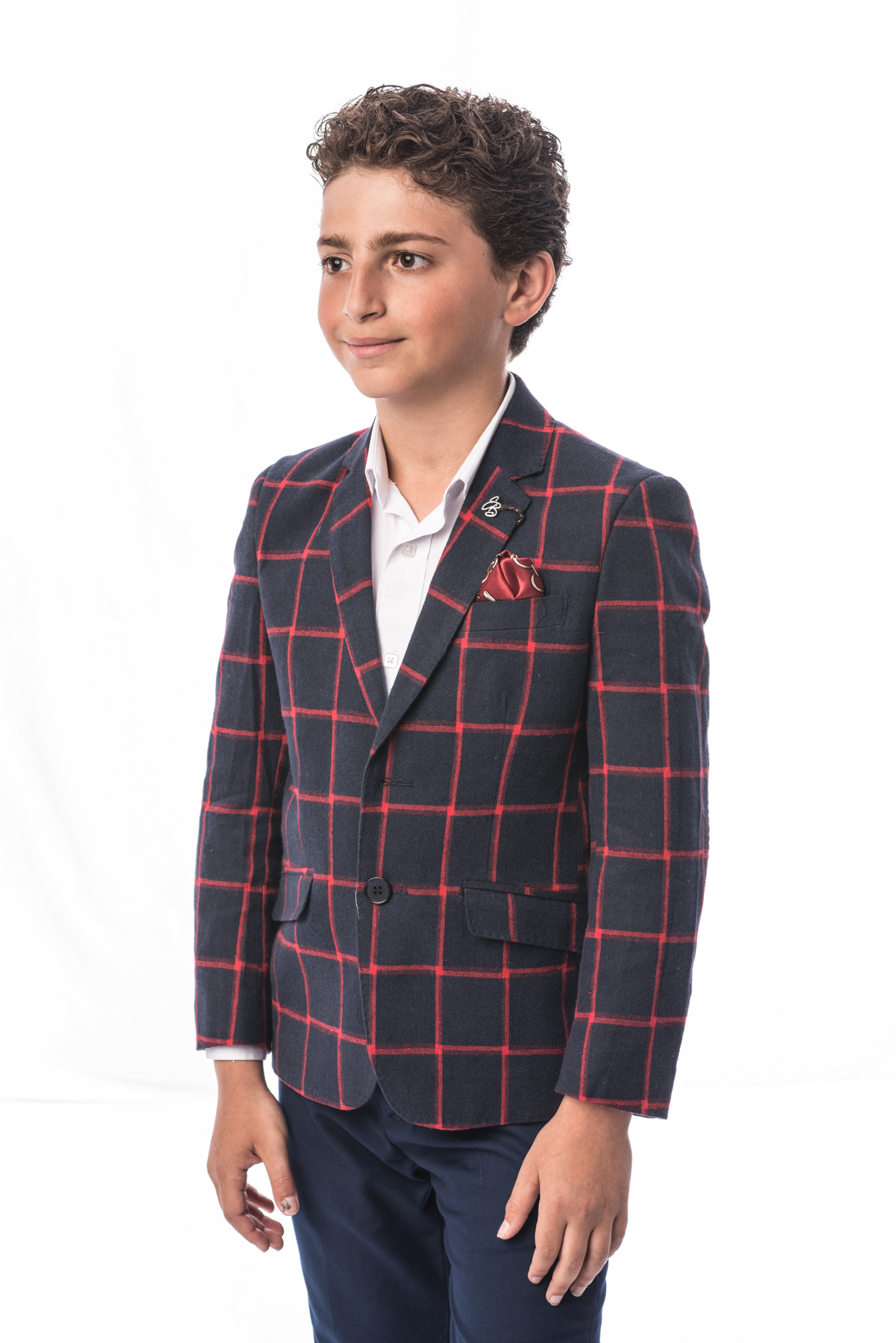 Fading Plaid Boys Blazers / Sports Coat Jacket EBBS1678