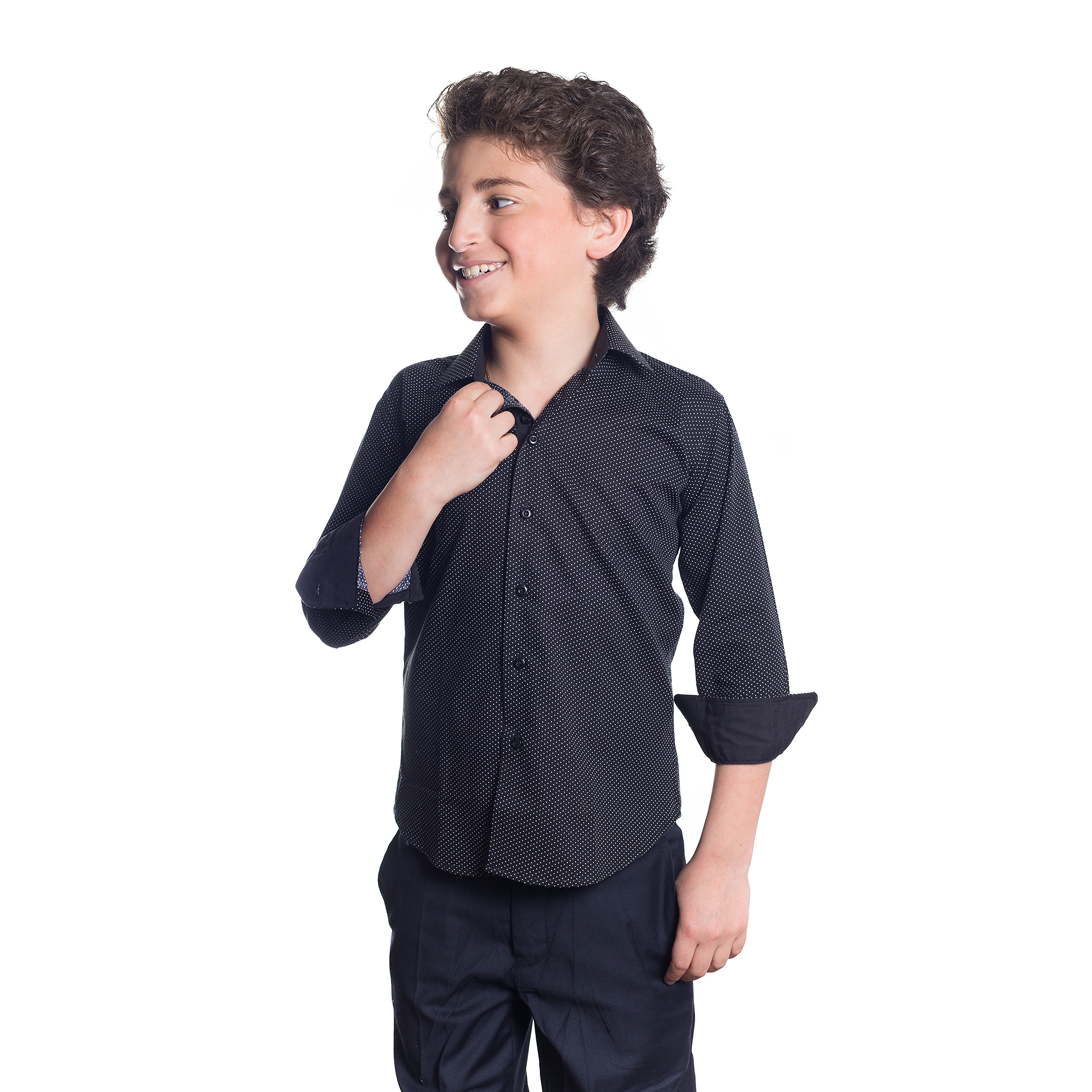 Polka Dots Boys Shirts / Button Down EBSH121B