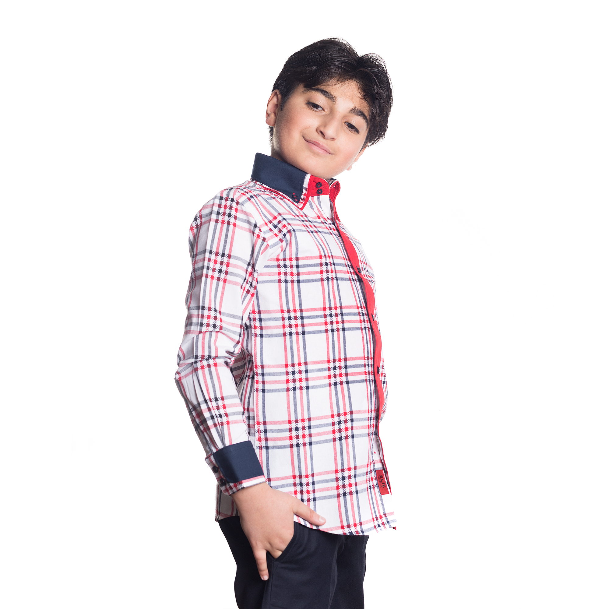 Checkered Boys Shirts / Button Down EBSH141B