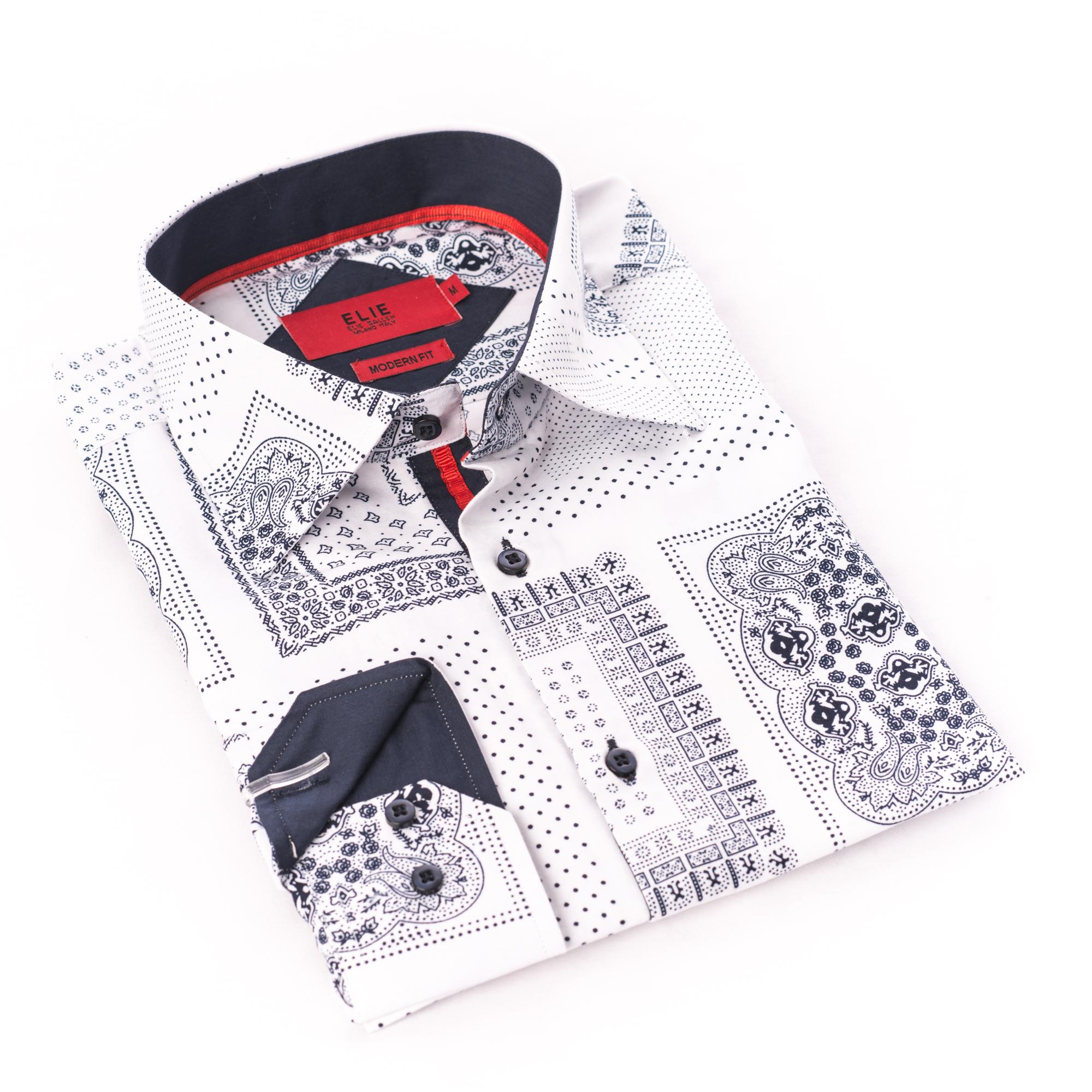 Bandana Print Boys Shirts / Button Down EBSH236B