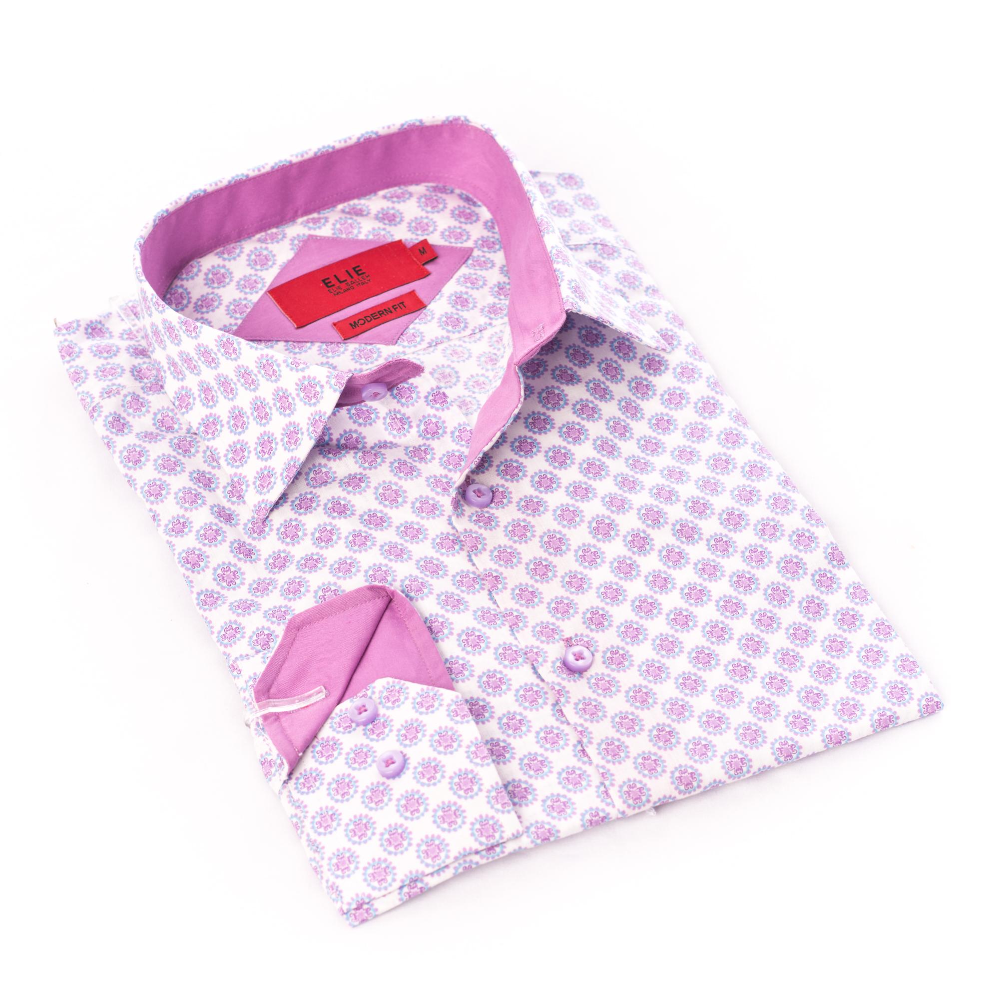 Geometric Circles Boys Shirts / Button Down EBSH237B