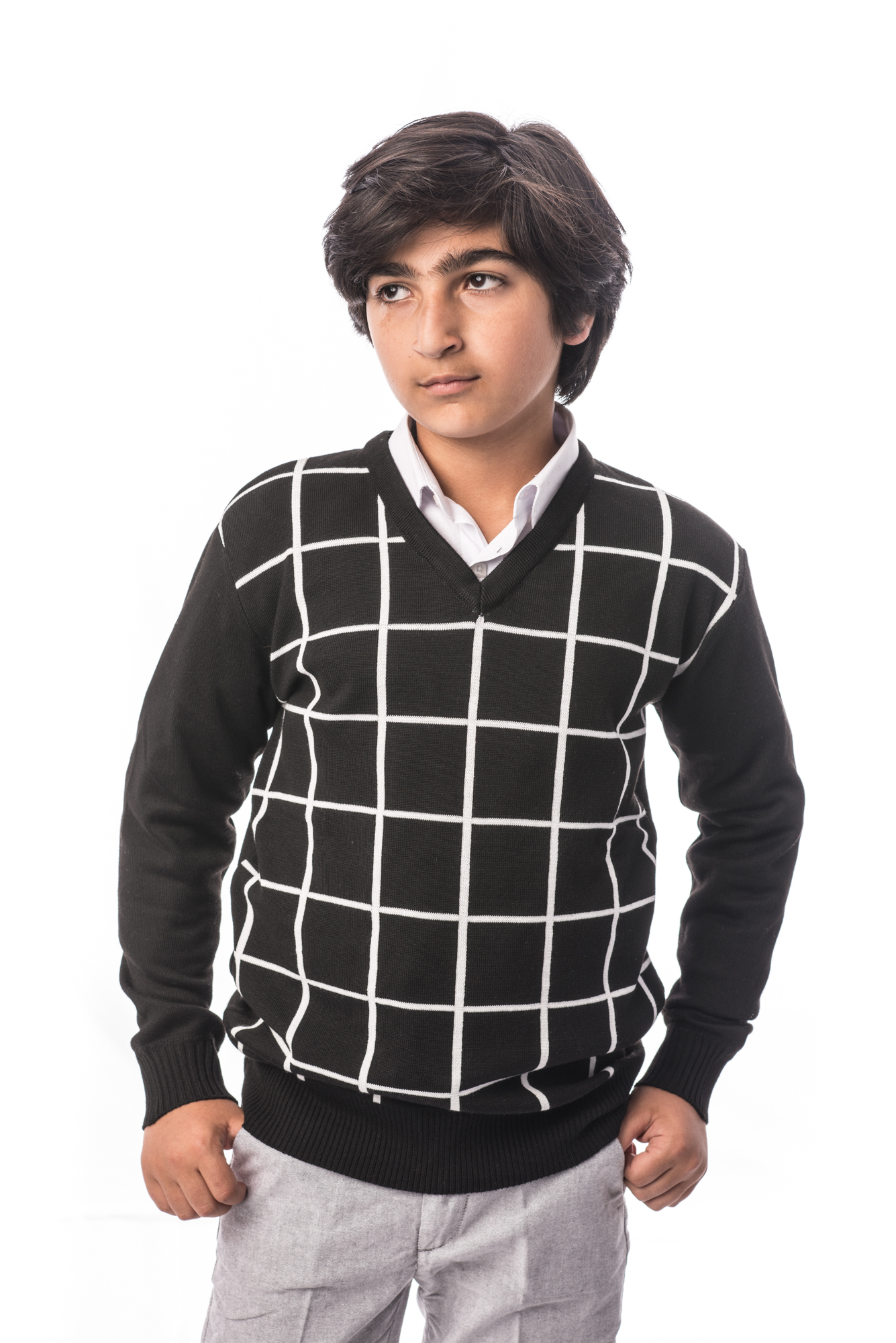 Plaid Boys Sweater EBST1606B