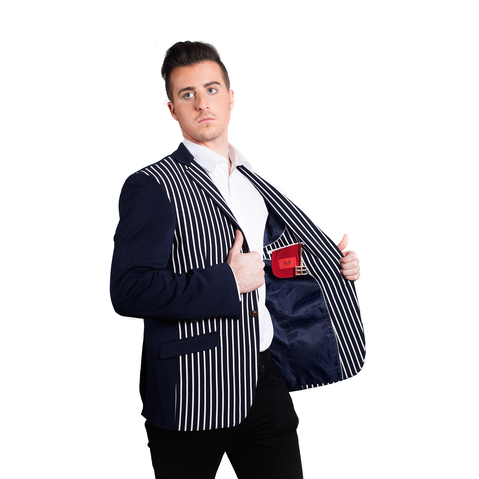 Knit Solid and Strips Men Blazers / Sports Coat Jacket EBBW1551M