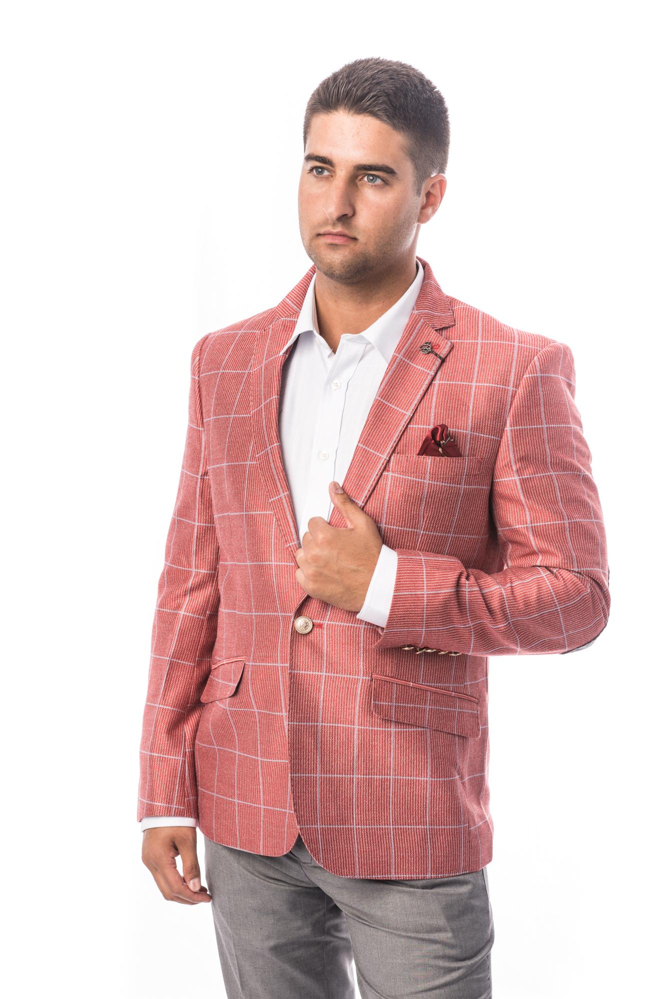 Fashion Plaid Men Blazers / Sports Coat Jacket EBBS1679M