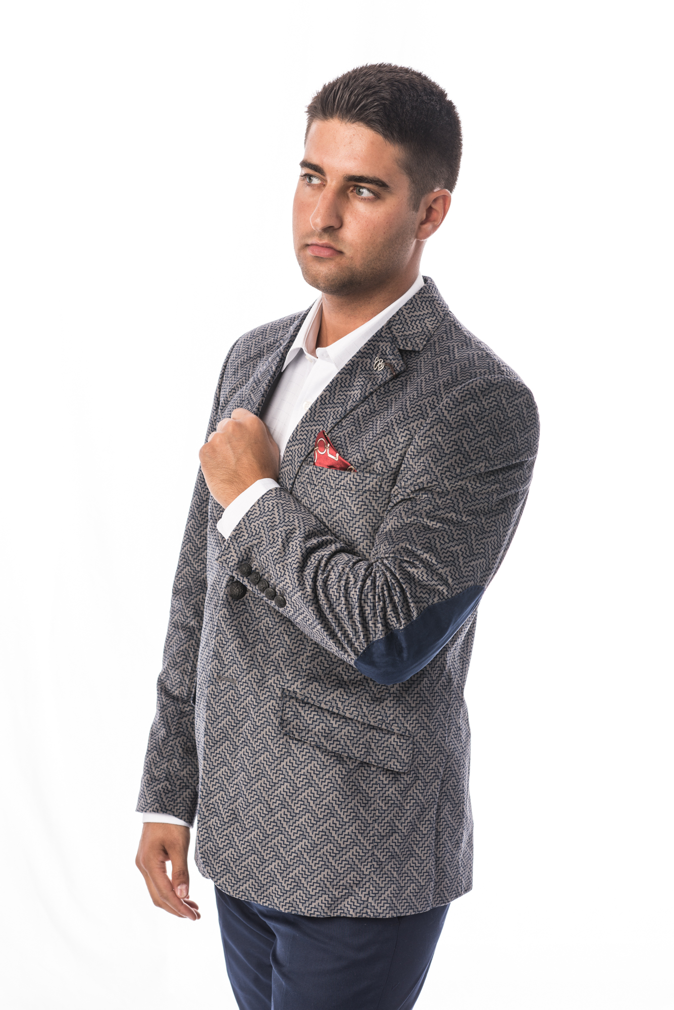 Geometric Velvet Men Blazers / Sports Coat Jacket EBBS1680M