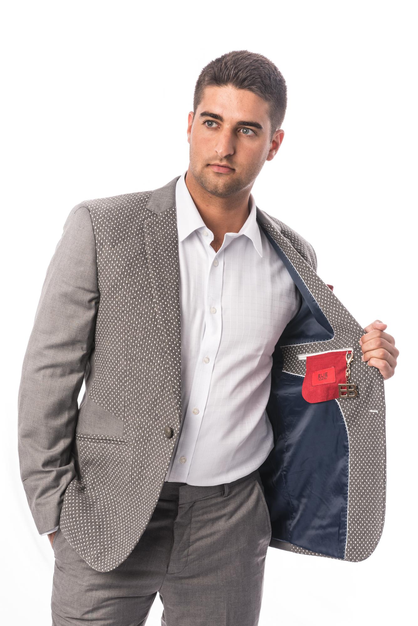 Solid & Dots Men Blazers / Sports Coat Jacket EBBS1681M