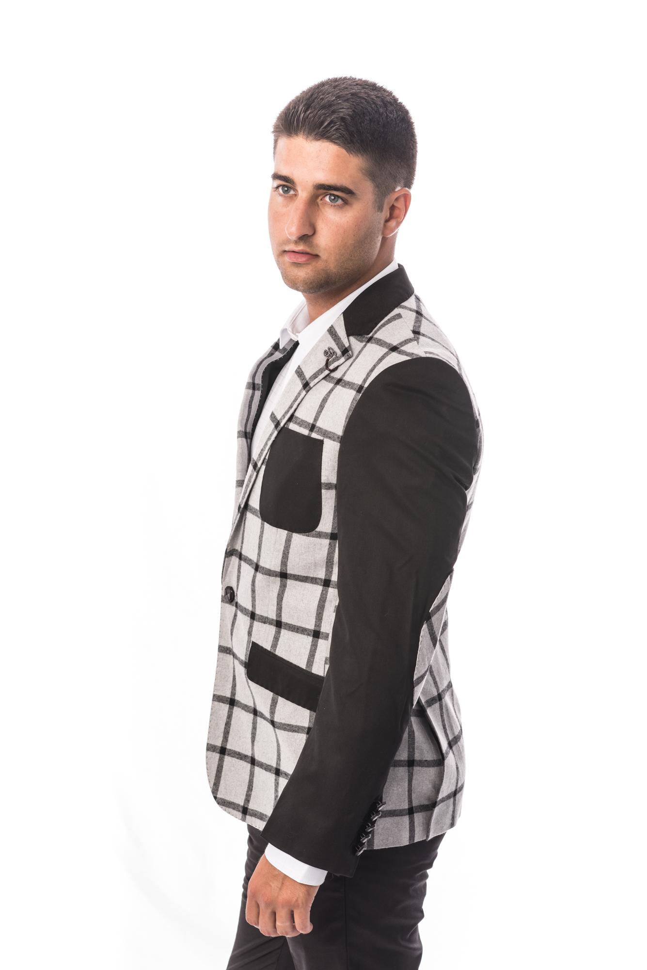 Plaid & Solid Men Blazers / Sports Coat Jacket EBBS1683M