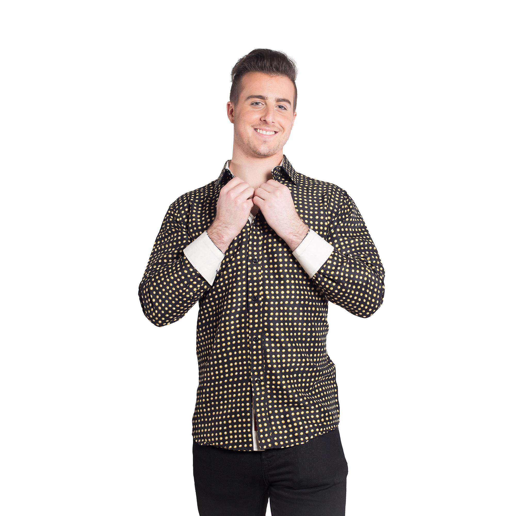 Golden Dots Men Shirts / Button Down EBSH124M