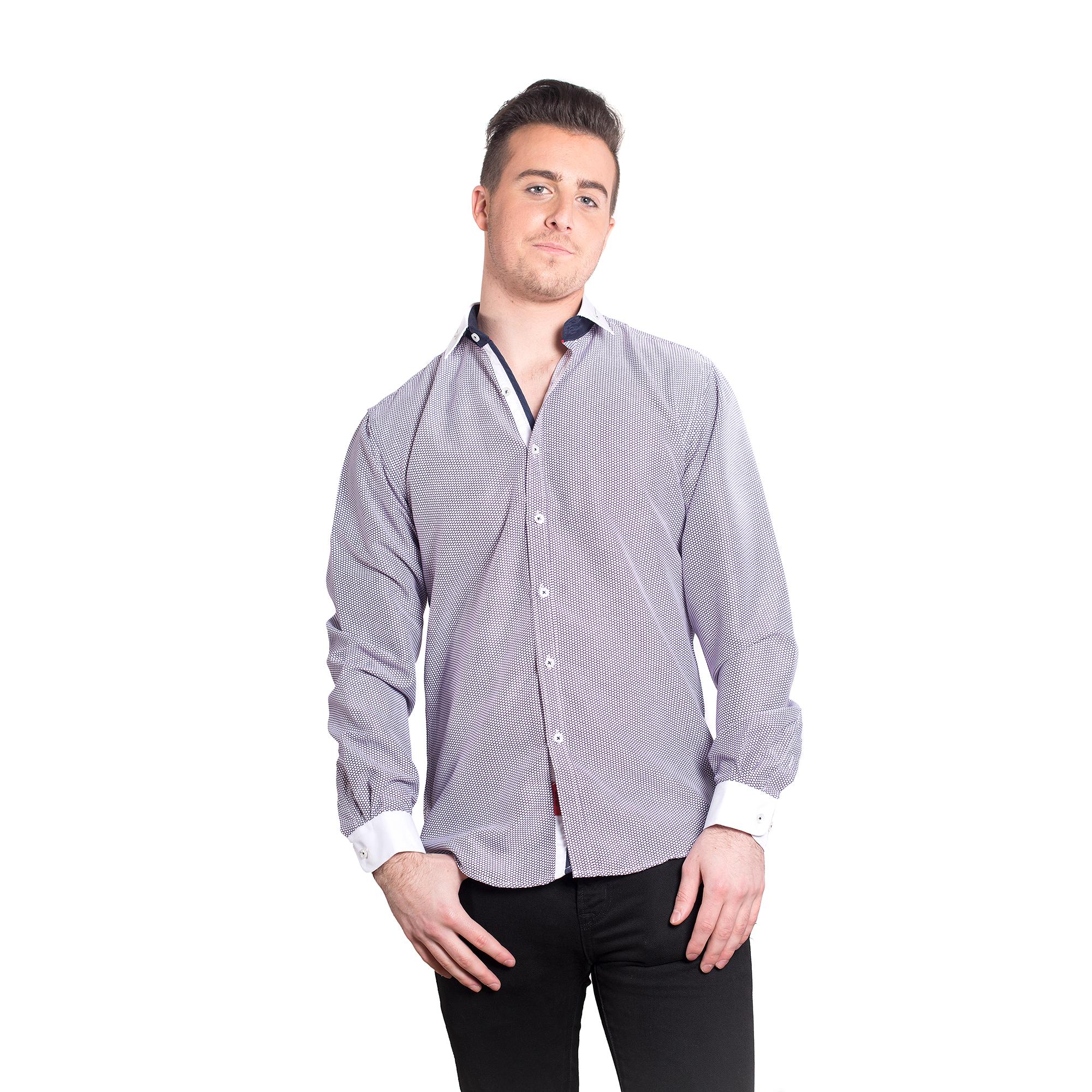 Geometric Men Shirts / Button Down EBSH125M