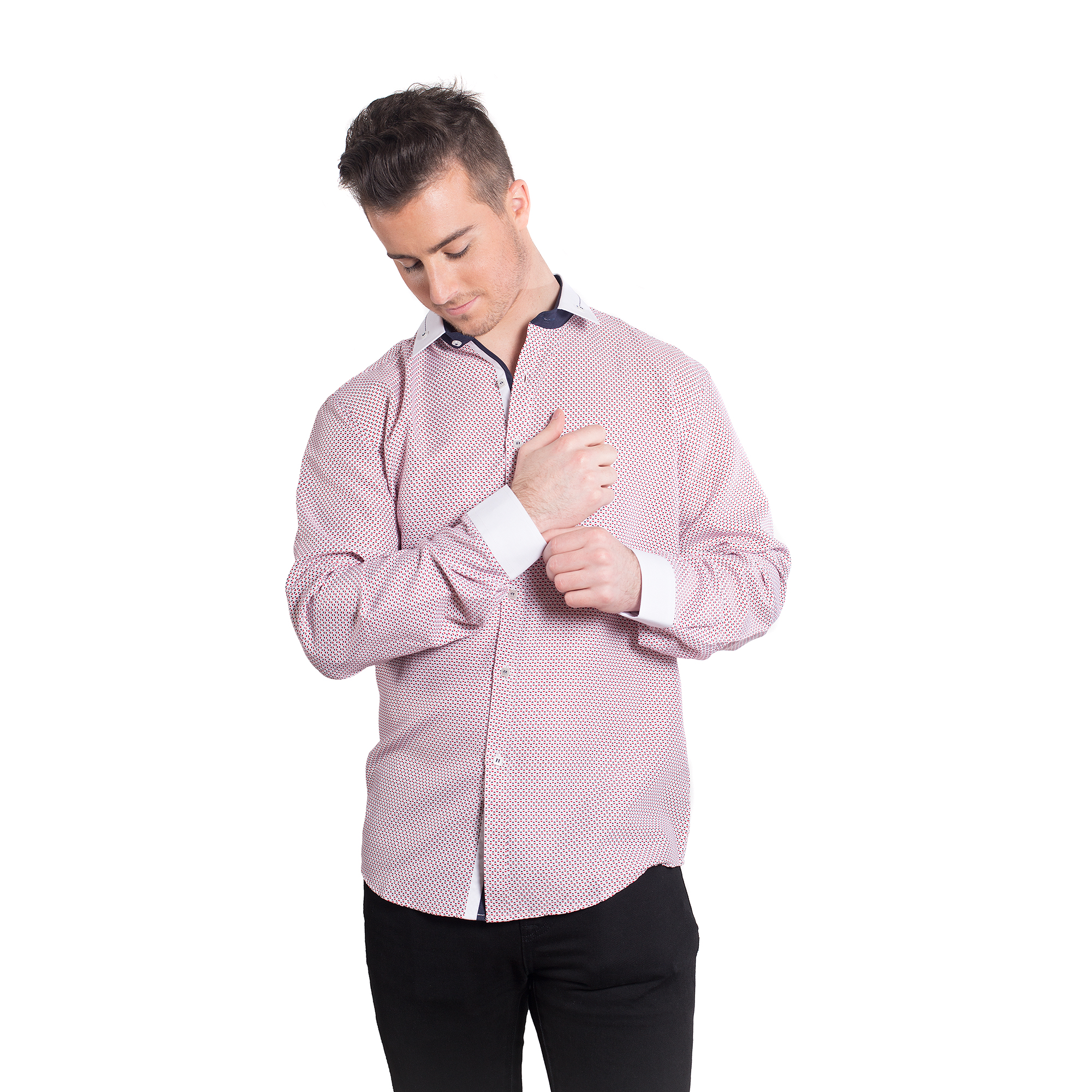 Hearts Men Shirts / Button Down EBSH126M