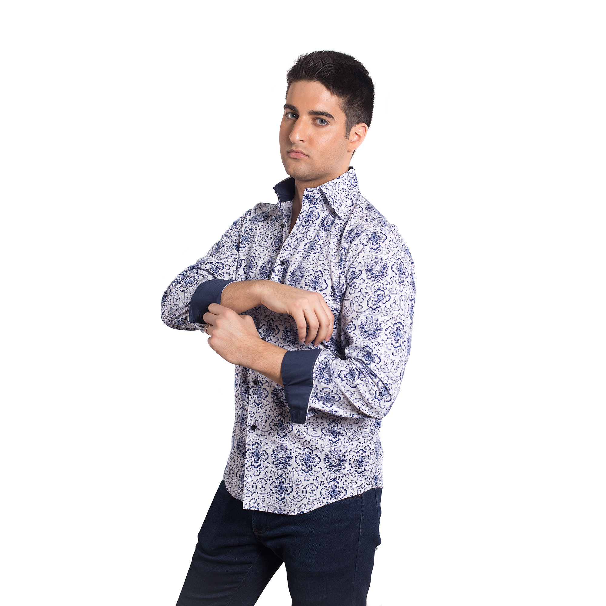 Wild Print Men Shirts / Button Down EBSH127M