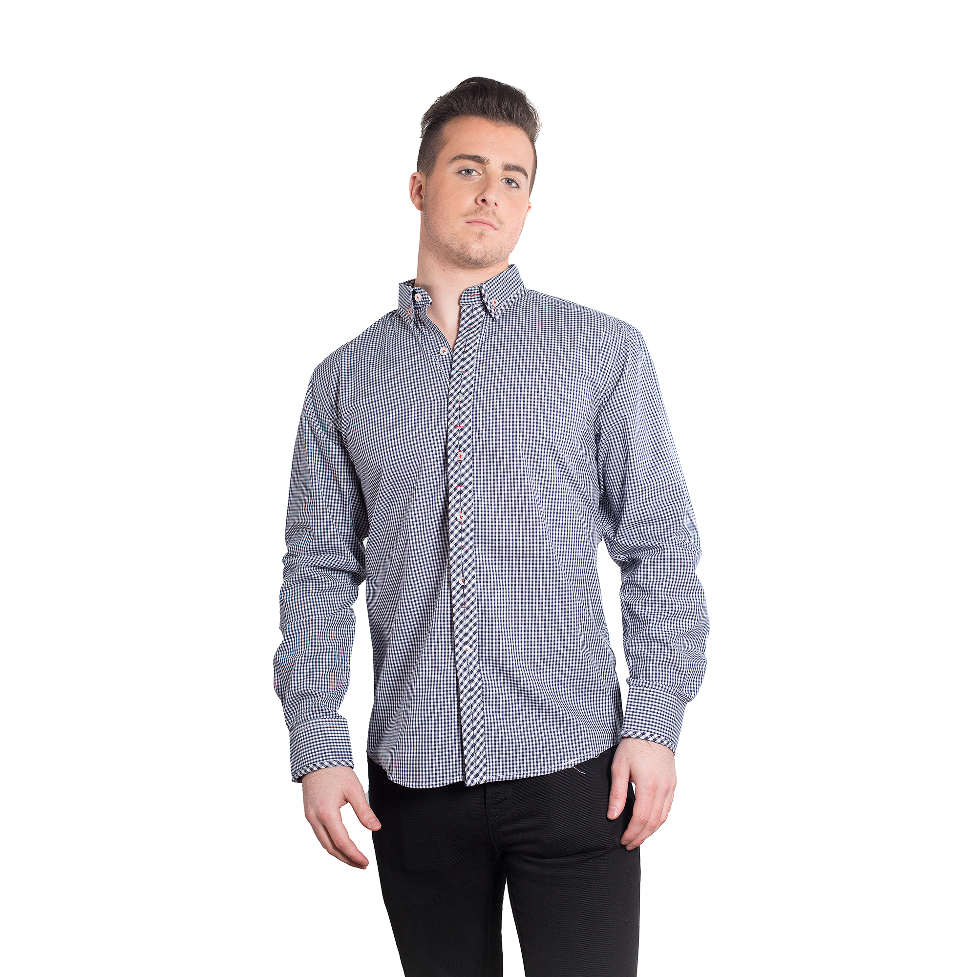Gingham Men Shirts / Button Down EBSH133M
