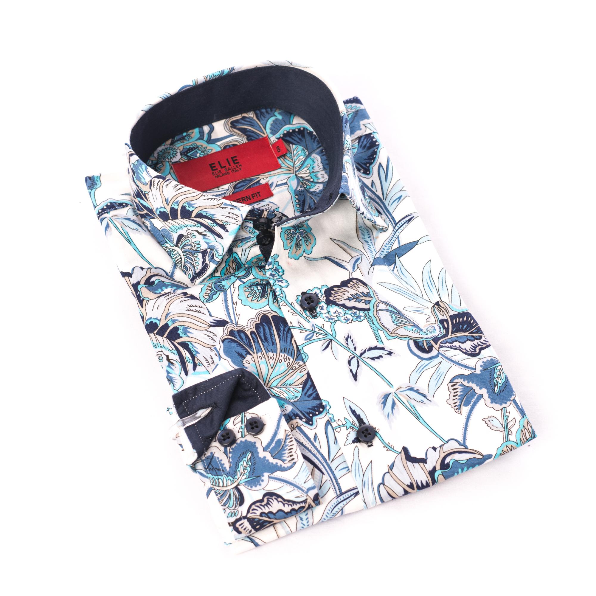 Wild Flower Design Men Shirts / Button Down EBSH231M