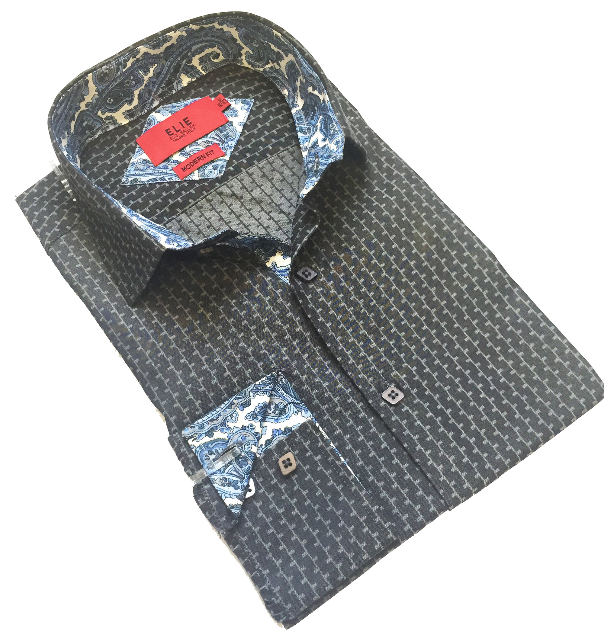 Solid Textured Men Shirts / Button Down EBSH242M