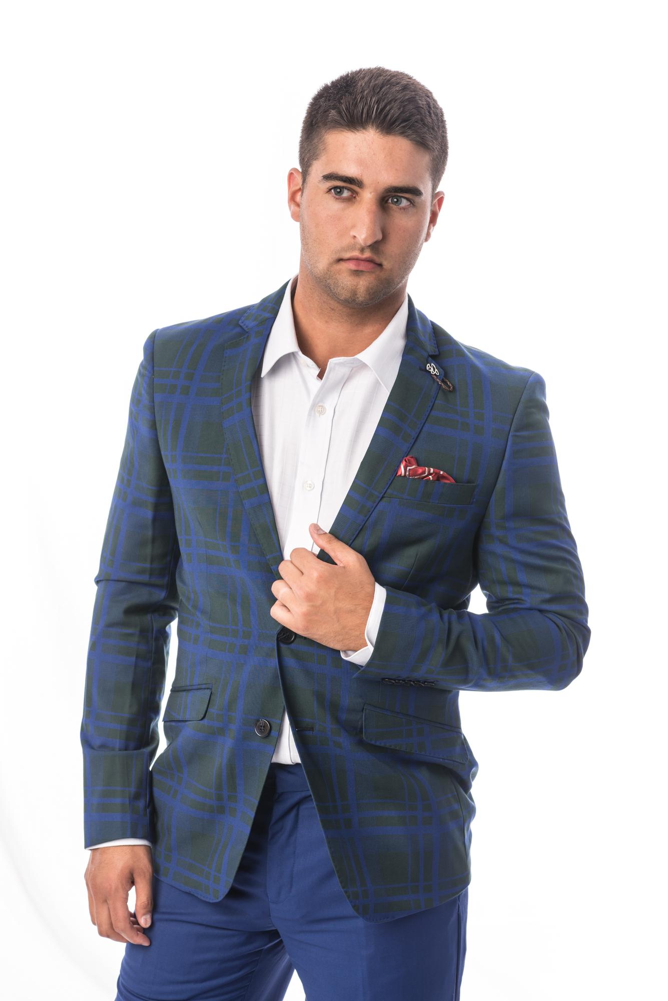 Plaid Men Suits EBSW1693M