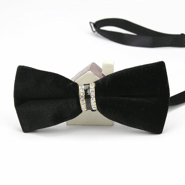 Diamond Encrusted Velvet Men's Bowties EBBT21-1M
