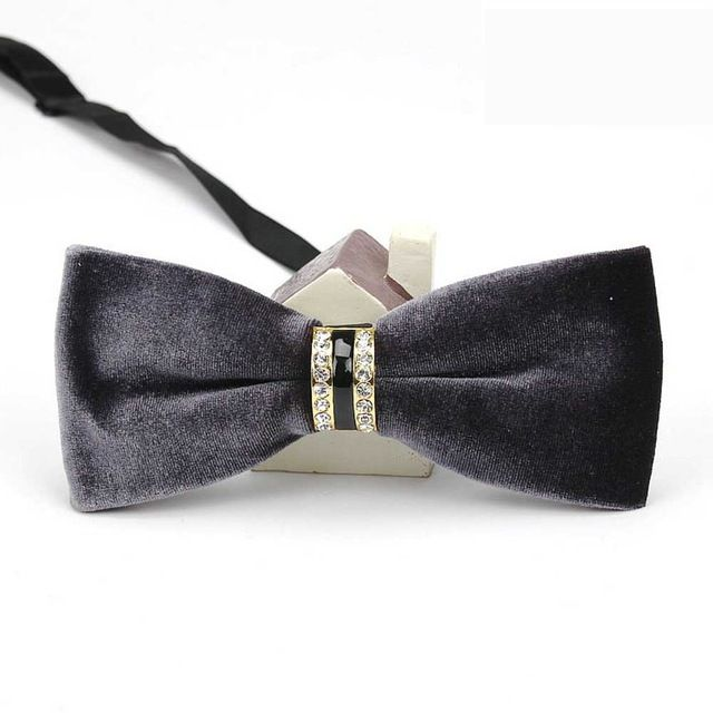 Diamond Encrusted Velvet Men's Bowties EBBT21-3M