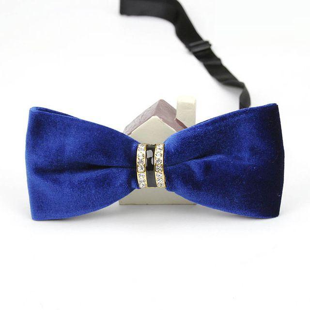 Diamond Encrusted Velvet Men's Bowties EBBT21-7M